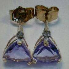 Unbranded Butterfly Fastening Natural Amethyst Fine Earrings