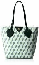 New Anne Klein Georgia Women Medium PVC Leather Tote Bag Pistachio Green Multi