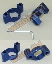 Motorbike HEX Fork Adjusters - Anodised Blue 22mm - ADJ31BU