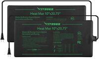 "2x VIVOSUN 10""x20"" seedling Heat Mat Starter Hydroponic Germination Propagation"