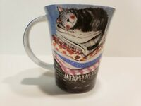 Queens Alex Clark Coffee Mug Cup cat on top of full LAUNDRY BASKET Bone China