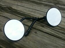 Black 3 Inch Round Mirrors (2) Pair Right and Left for Harley Davidson
