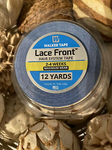 "Walker Tape Blue Tape 3/4"" x 12 yards lace hairpiece wig toupee tape roll"