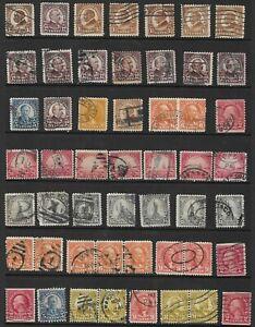 57 US Stamps Used # 553 -1 1/2¢ Ha, # 599- 2¢ Washington, # 567- 20¢ GOLDEN GATE