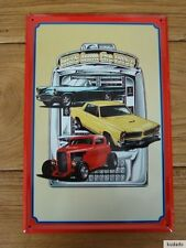 F7989 Vintage davanti a Jukebox - Nostalgia - Insegna - Targa di Latta