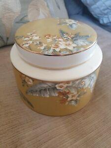 Laura Ashley Florintine Ceramic Short Lidded Pot/ Vessel/ Jar, Storage