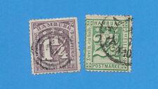 HAMBURG Germany - scott 22 & 23 perf 13 1/2 used.   #23 small thin