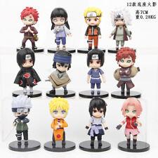 Naruto Kakashi Sakura Sasuke 12 PCS Anime Action Figures Collection Kids Toy
