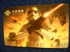 STAR WARS SPECIAL EDITION Stormtrooper series PHONE CARD from CHINA UNICOM #6-6