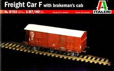 ITALERI 1:87/HO Fret Wagon F Avec Guérite De Frein Modèle Kit