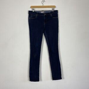 "White Stuff Dark Blue Navy Stretch Fitted Skinny Slim Jeans Size 12 W32 L30"""