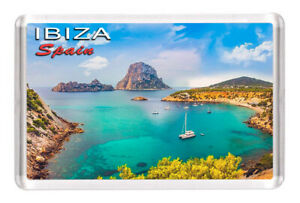 "Ibiza Spain Fridge Magnet Travel Souvenir 3""x2"""