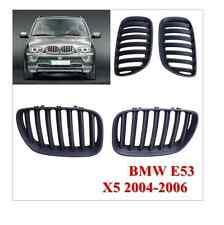 2 GRILLE DE CALANDRE NOIR BMW X5 E53 LCI RESTYLEE DE 01/2004 A 2006