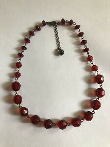 Liz&Co Red Necklace