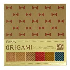 Japanese Origami Paper Craft Ribbon Design on Kraft 36p Made in Japan