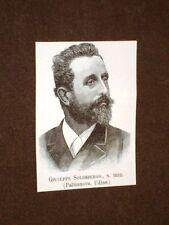 Deputato o Onorevole nel 1893 Giuseppe Solimbergo di Palmanova Udine