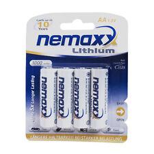 4x Nemaxx Premium 1,5V AA Batería Pila de litio 3000 mAh, 10 años de duración