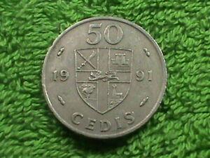 GHANA    50 Cedis   1991   :)