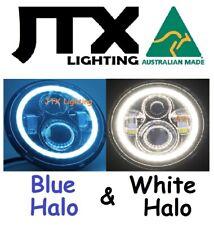 "7"" Headlights BLUE and WHITE Halo Pontiac Formula 455 Oldsmobile"