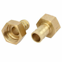 3/4BSP Female Thread 16mm Hose Barb Brass Tubing Coupler Connector Fitting 2pcs