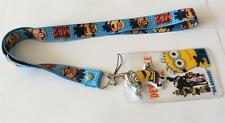 MOBILE PHONE/IDENTITY CARD LANYARD NECK STRAP DESPICABLE ME 2 BLUE & HOLDER
