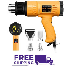 SEEKONE Heat Gun 1800W Heavy Duty Hot Air Gun Kit Variable Temperature Control..