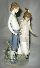Rare Vintage Lladro #5426 One, Two, Three Boy & Girl Retired Mint Condition