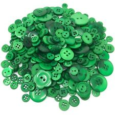 Dark Green 100 Gram Mix Acrylic & Resin Buttons For Cardmaking Embellishments