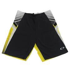 Oakley FLASH Black Yellow 34 L Mens Swim Surf Beach Boardies Board Shorts