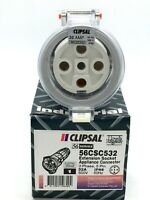 Clipsal 56CSC532 Extension Socket 3 Phase 5 Round Pins 500VAC 32A Orange