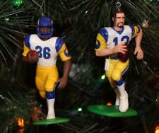 2 ST. LOUIS RAMS CHRISTMAS ORNAMENTS KURT WARNER & JEROME BETTIS los angeles