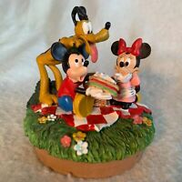 Walt Disney World Parks Picnic Scene Mickey Mouse Minnie Pluto Candle Jar Topper