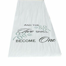 Wedding Aisle Runner Durable Two Shall Become One 100' Long Aisle Runner