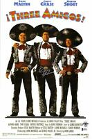 "Chevy Chase Signed 12""x 17"" Three Amigos Movie Poster - BAS COA - Beckett"