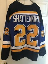 KEVIN SHATTENKIRK SIGNED ST. LOUIS BLUES JERSEY W/ BECKETT COA AND BONUS GIFT