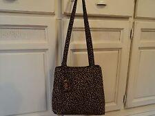 NINE WEST Waterproof Nylon Cheetah/Leopard Shoulder Hand Bag GIFT animal purse