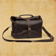 Genuine Leather Men's ladies Duffel travel office Briefcase Laptop Messenger Bag