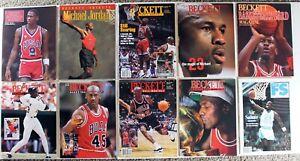 Lot (10) Beckett Basketball Magazine Issue #1 Michael Jordan Cover Chicago Bulls