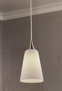Portfolio Mini Pendant 0749835 LED Light Fixture Polished Nickel Finish, Frosted