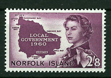 NORFOLK ISLAND 1960 LOCAL GOVERNMENT SG40 BLOCK OF 4 MNH