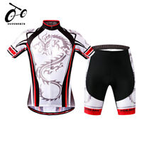 Summer Men's Short Sleeve Cycling Outfit Bike Jersey&Shorts Set Bicycle Teamwear