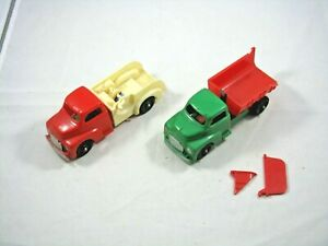Hubley Plastic - #322 Dump Truck and #323 Tow Truck Parts Lot—As Found