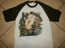 JOHN CENA JERSEY T SHIRT Wrestling WWF WWE You Can't See Me White Brown SM
