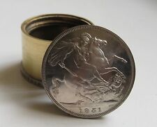 Vintage George & Dragon 1951 Crown Coin Screw Lid Table Top Pill / Snuff Box