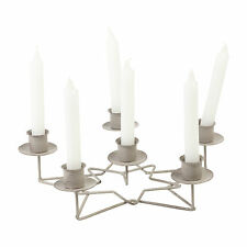 Traditional Metal 6 Arm Christmas Star Candle Holder Table Centerpiece Decor