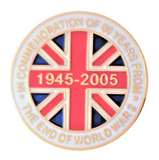 Commemoration Of 60 Years Since The End Of World War 2  WW2 Pin Badge