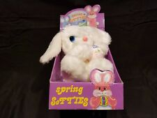 New Vintage HTF Happiness Aid Spring Softies Easter Bunny Plush Well-Made Toy