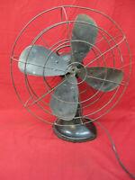 Antique Working Hunter Metal Table Fan 3 Speeds, Adjustable Angle Oscillates