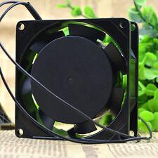 DC 220 V 80 mm x 80 mm x 25 mm Metal Industrial Lüfter Ventilateur De Refroidissement 2 fils Dissipateur de chaleur