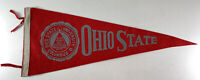 Vintage Ohio State University Buckeyes Pennant Red & White School Seal Columbus